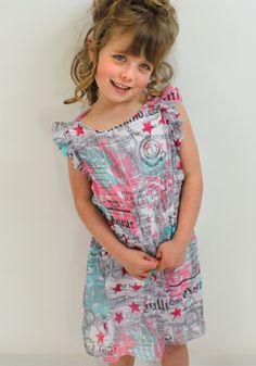 Galliano kids pink gazette print dress from Designerchildrens... #galliano #gallianokids #designerkids #designerclothes #luxurykids #kidsclothes #girlsclothes #modelkids #chic #modelkids