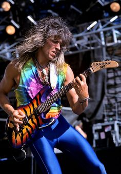 George Lynch of Dokken, armed with an ESP Kamakazi Tiger (his Signature Model)