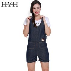 f7fd0dfccb HYH HAOYIHUI 2016 Brand New Summer Vintage Women Casual Denim Sleeveless Romper  Jean Pants Short Overall Jumpsuit. WOMEN FASHION CLOUSE