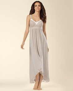 comfy nightgown! Soma Intimates Floral Scallop Lace Long Nightgown #somaintimates