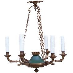 Empire Style Chandelier | From a unique collection of antique and modern chandeliers and pendants  at https://www.1stdibs.com/furniture/lighting/chandeliers-pendant-lights/