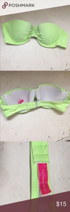 Lime Green VS Bikini Top Lime Green VS strapless bikini top! Victoria's Secret Swim Bikinis