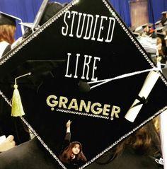 Studied like Granger. Graduation cap. Harry Potter. Cap decoration.