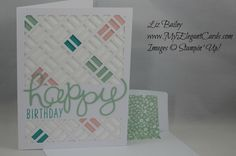 Paper Pumpkin May 2016 alternate - Many Manly Occasions - Hello You - CAS - My Elegant Cards - Liz Bailey - Independent Stampin' Up! Best Wishes Card, Stampin Up Paper Pumpkin, Pumpkin Cards, Embossed Cards, Homemade Cards, Stampin Up Cards, Making Ideas, Paper Flowers, Cardmaking