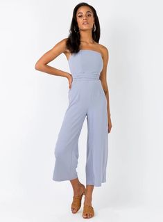 Princess Polly The Kit Jumpsuit Grey Found on my new favorite app Dote Shopping Playsuit Romper, Jumpsuit Dress, Leg Bones, Playsuits, Jumpsuits, Online Fashion Boutique, Princess Polly, Strapless Dress, Rompers