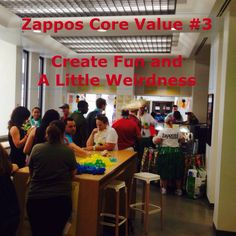 A year since the visit to Zappos and they are inspiration every day Innovative Companies, Core Values, Innovation, Neon Signs, Create, Fun, Inspiration, Biblical Inspiration, Inspirational