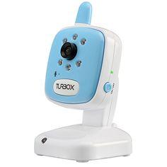 Turbo-X Baby Monitor- Camera SA Blue. Με αυξημένη ασύρματη εμβέλεια, με θερμόμετρο δωματίου, νανούρισμα και δυνατότητα Zoom in/out για καλύτερο έλεγχο.