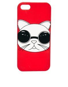 ASOS – iPhone 5-Hülle aus Gel mit Katzenmotiv