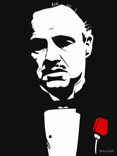 Marlon Brando as Don Vito Corleone, using Krita Beta. Art Sketches, Art Drawings, Don Corleone, Flower Canvas, Stencil Art, Stenciling, Silhouette Art, The Godfather, Wall Art Pictures