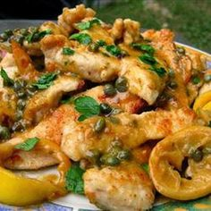 Lemon Chicken Piccata - This delicious chicken dish is exquisite and easy to prepare. The light and luscious lemon sauce really pops without being too acidic; it is simply divine. Serve it with herb-roasted potatoes or lemon-rice,,