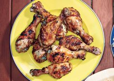 Grilled Lemon-Oregano Chicken Drumsticks...  These are equally delicious hot off the grill or cold the next day.     Save Recipe