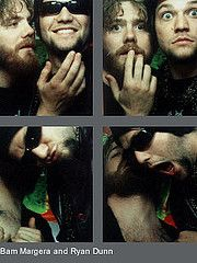 Bam Margera & Ryan Dunn of Jackass in MTV's TRL photo booth