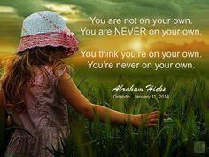 #AbrahamHicks #NonPhysical #NeverOnYourOwn