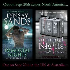 Argeneau book Immortal Nights, is finally out and available online and on… Lynsay Sands, Happy Reading, Usa Today, Book Authors, My World, About Uk, Hugs, North America, Audiobooks