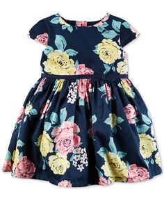 Carter's treats her to dreamy, dressy style with this dress finished with a…