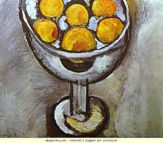 Henri Matisse. A vase with Oranges. 1916. Oil on canvas. Private collection. Olga's Gallery.