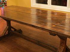 DIY farmhouse table via Let's Just Build a House Blog