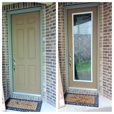 Charmant Zabitat Remodeled Fiberglass Front Door By Adding Impressions Door Glass  Into An Existing Fiberglass Door.