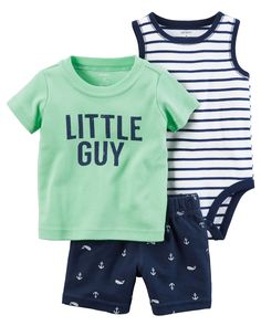 a408ed56b32 Baby Boy 3-Piece Little Short Set from Carters.com. Shop clothing  amp