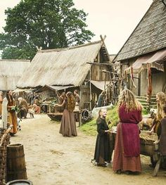 Viking village life.