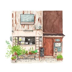 No.71 - Cat cafe in Kyoto. Meow! Illustration by Justine Wong of Patterns and PortraitsFind me on instagram / store / portfolio