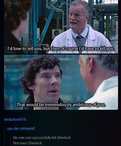 Not even Sherlock can successfully kill Sherlock.