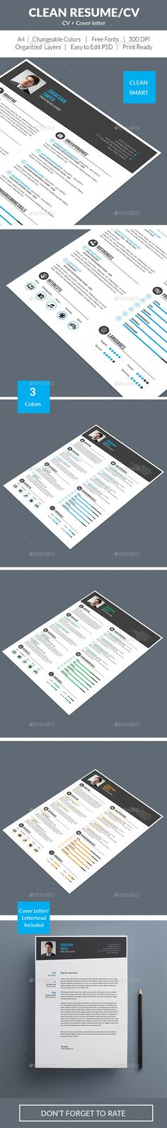 Clean \ Modern Resume Modern resume, Modern resume template and - resumes by design