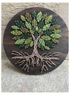String Wall Art, Nail String Art, String Crafts, Tree Wall Art, Bicycle String Art, String Art Templates, String Art Patterns, Cute Crafts, Crafts To Make