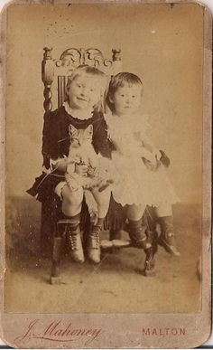 CDV~Adorable Girl Holding a Kitty CAT Sitting Up in Her Lap~Antique Photograph