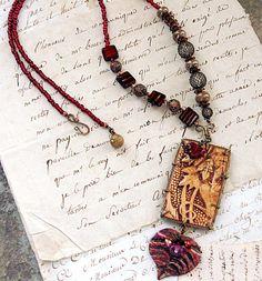 Sonata necklace - polymer clay - Christine Damm