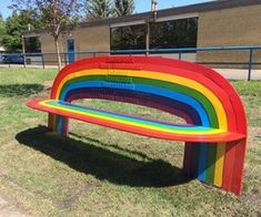 Image in rainbow collection by Guadalupe Ramirez Buddy Bench, Wallpaper Hp, Different Aesthetics, Rainbow Connection, Rainbow Aesthetic, Indie Kids, Over The Rainbow, Oeuvre D'art, Wall Collage