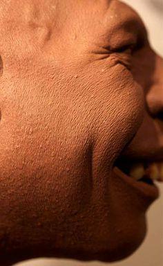 Rick Bakers' Monster Clay Schlitze sculpt, detail shot.