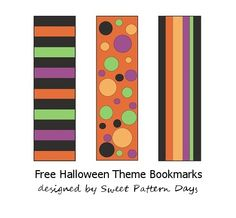 Free Printable Bookmarks for Halloween