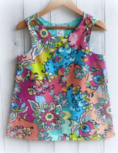 Girls+Top++2+button+Aline++Size+7+Only+by+LittleMacsClothing,+$28.00