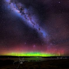 A magical Lady Aurora and Milky Way from Tinderbox on Sunday night thanks to Jessica Scott