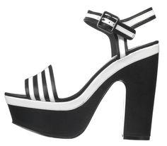 Soletrader striped heels