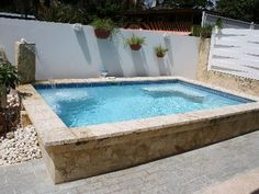Would you like one? Small space, tiny house? www.geremiapools.com Best Above Ground Pool, In Ground Pools, Jacuzzi, Raised Pools, New Patio Ideas, Garden Home Office, Pool Plaster, Container Pool, Shed With Porch