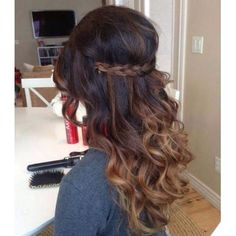 Brown ombre Hair ️ ❤ liked on Polyvore featuring hair