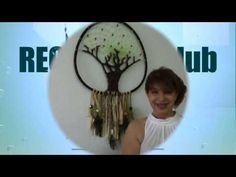 Tree of Life - Dreamcatcher, Part One Macrame Tutorial, Crochet Videos, Decoration Table, Tree Of Life, Suncatchers, Craft Tutorials, Wind Chimes, Youtube, Projects