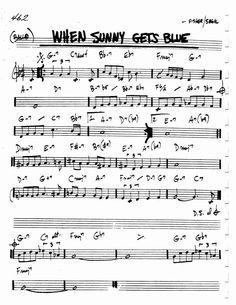 Jazz Standard Realbook chart WHEN SUNNY GETS BLUE