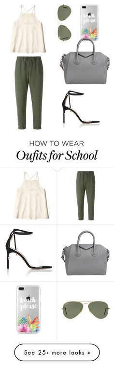 """School Meeting"" by sarahfohlen on Polyvore featuring P.A.R.O.S.H., Ray-Ban, Givenchy, Manolo Blahnik, Hollister Co., Spring and 2k17"