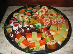 Candy sushi is a fun activity for a teen late-night. It's not really a new thing (you can find a bazillion tutorials and recipes online), but it tends to be a pretty popular (edible) craft and/or snack.