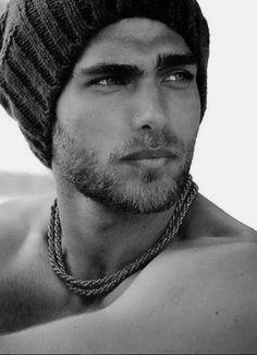 Beautiful Men Faces, Beautiful Boys, Gorgeous Men, Hunks Men, Hot Hunks, Pretty Men, Pretty Face, Moustache, Photo Pose Style