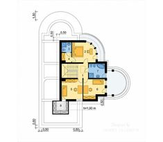 Projekt domu LK&827 Concrete Staircase, Apartment Floor Plans, Pool Houses, Home Projects, House Plans, Flooring, How To Plan, Houses With Pools, House Plans Design
