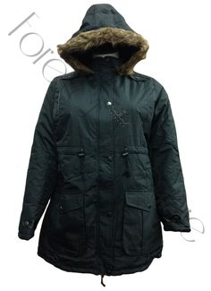 Black Parka Faux Fur Hooded Jacket With Front Pockets  Pack of 6 Pieces£23.00 per Piece VAT: 0%  FC