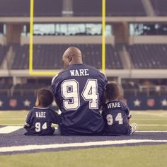 DeMarcus Ware...so cute!  My favorite Dallas Cowboys player #94!!!!
