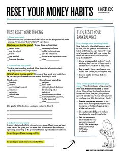 A simple worksheet to help you prioritize what's important to you and tweak your spending accordingly.