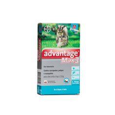 Anti Pulgas e Carrapatos Advantage MAX3 Bayer M para Cães de 4kg a 10kg 1ml. #petmeupet #carrapato #pulga #antipulga #anticarrapato #advantage #bayer #promocao #desconto #cachorro