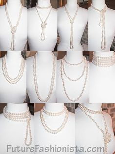 """So many pearls... so little time! Wear them Layered, twisted, knotted, tied, wrapped and pinned. Ideas for your 72"""" strand: http://futurefashionista.com/wh8mmfrpe72s.html"""