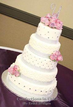 Rhinestone Quinceanera cake